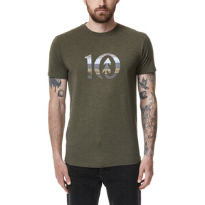 tentree Spruce Stripe Ten T-Shirt Herren olive night green heather olive night green heather