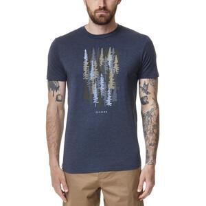 tentree Spruced Up T-Shirt Herren dress blue heather dress blue heather