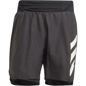 adidas TERREX Parley Agravic 2in1 Shorts Men, czarny/biały czarny/biały