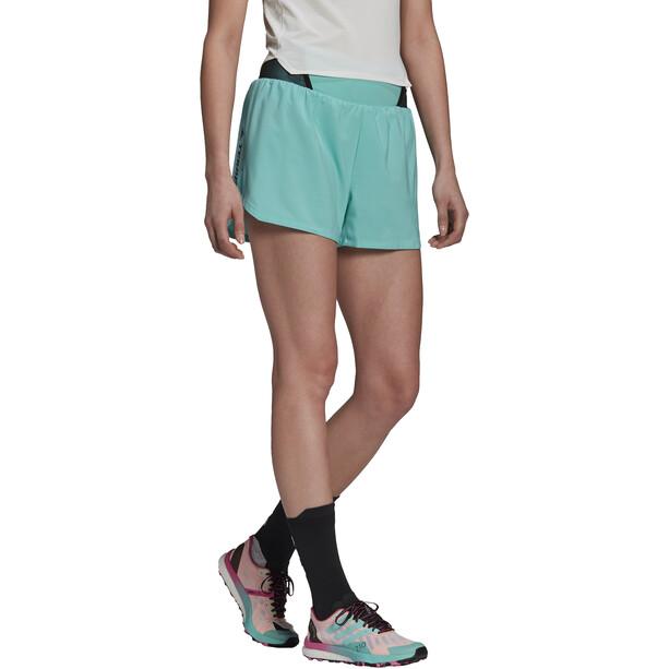 adidas TERREX Parley Agravic All Around Shorts Damen acid mint/black