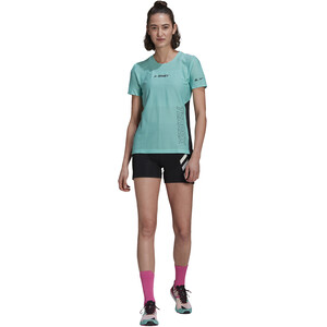 adidas TERREX Parley Agravic TR Pro T-Shirt Damen acid mint/black acid mint/black
