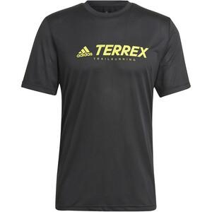 adidas TERREX Primeblue Trail Functional Logo Tee Men, noir/jaune noir/jaune