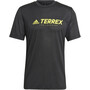 adidas TERREX Primeblue Trail Functional Logo Tee Herren schwarz/gelb