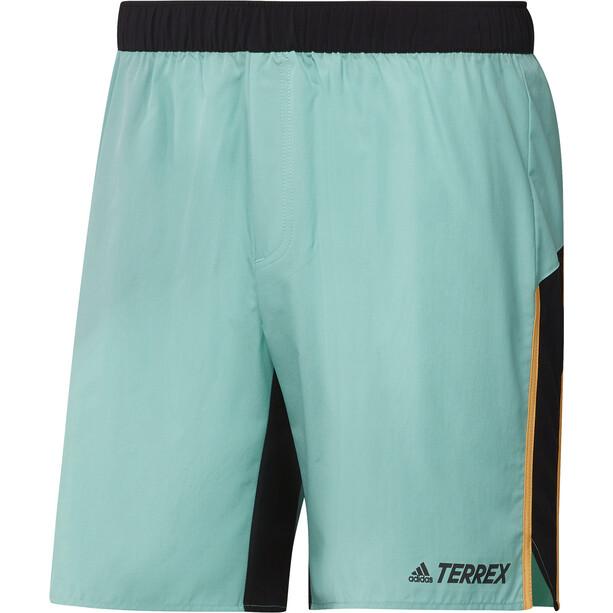 adidas TERREX Primeblue Trail Shorts Men, acid mint