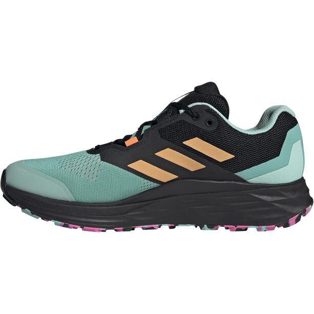 adidas TERREX Speed Flow Trail Running Schuhe Herren acid mint/hazy orange/screaming pink