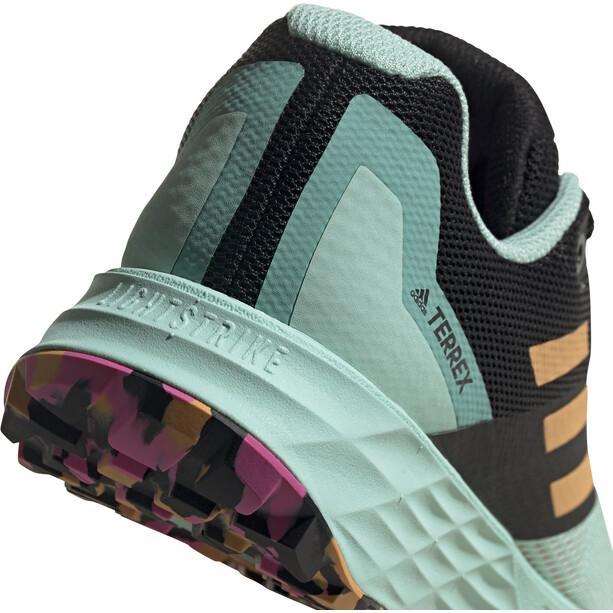 adidas TERREX Speed Flow Trail Running Schuhe Damen clear mint/hazy orange/screaming pink