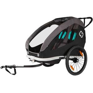 Hamax Traveller Fahrradanhänger inkl. Fahrraddeichsel und Buggyrad schwarz/grau schwarz/grau