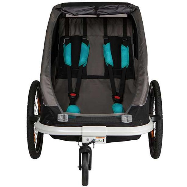 Hamax Traveller Remorque Vélo bras de bicyclette et roue de poussette inclus, black/grey