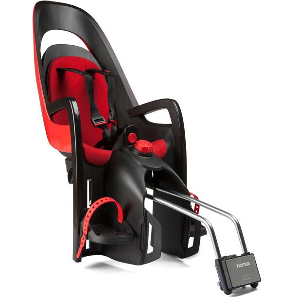 Hamax Caress Special Edition 2021 Kindersitz inkl. abschließbarer Rahmenhalterung rot/schwarz