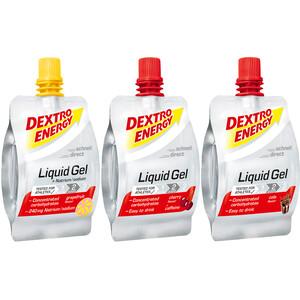 Dextro Energy Liquid Gel Box Biking 18 x 60ml, Grapefruit/Cherry/Cola
