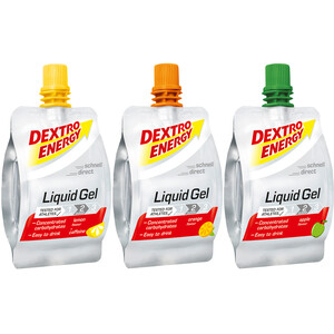Dextro Energy Liquid Gel Box Running 18 x 60ml Lemon/Orange/Apple