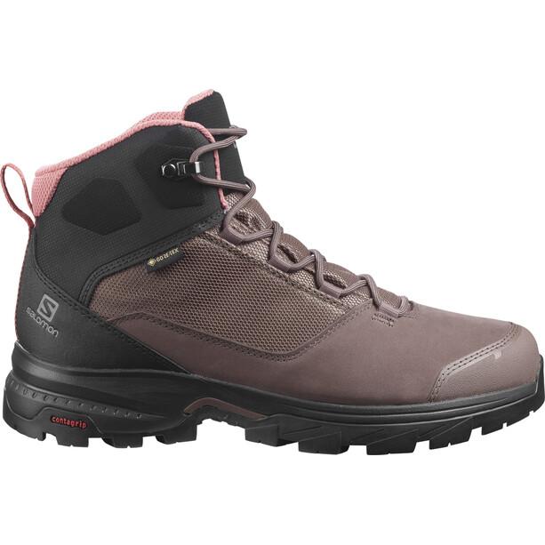 Salomon Outward GTX Shoes Women peppercorn/black/brick dust