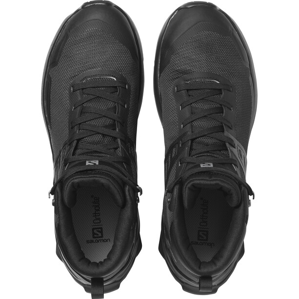 Salomon X Raise Mid GTX Shoes Men black/black/quiet shade