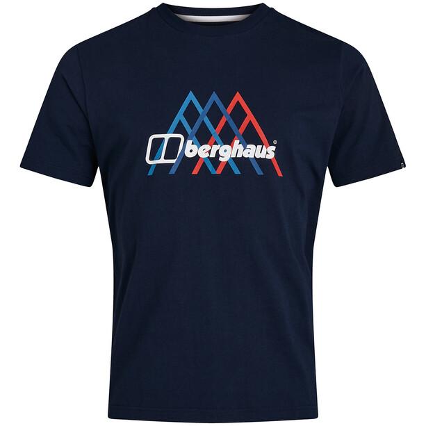 Berghaus Peak Fusion Grid Shortsleeve Tee Men, dusk