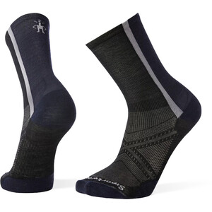 Smartwool PhD Cycle Ultra Light Pattern Crew Socks Men svart/vit svart/vit