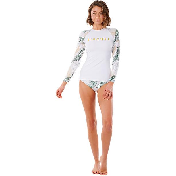 Rip Curl Coastal Palms Langarm UV Shirt Damen white