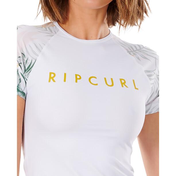 Rip Curl Coastal Palms SS UV Shirt Women, valkoinen
