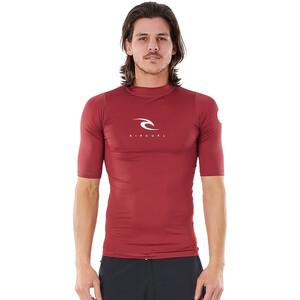 Rip Curl Corps Kurzarm UV Shirt Herren rot rot