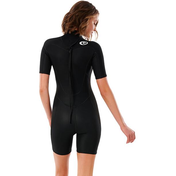 Rip Curl Freelite Short Sleeve Spring Suit 2mm Women, musta