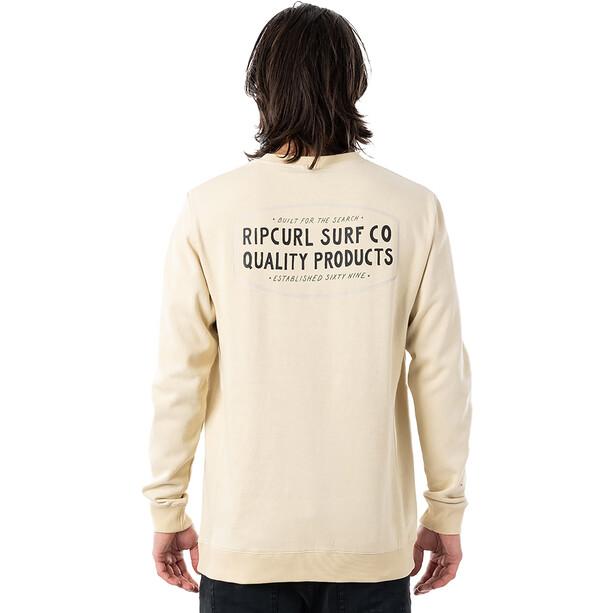 Rip Curl Garage Rundhals Sweater Herren beige