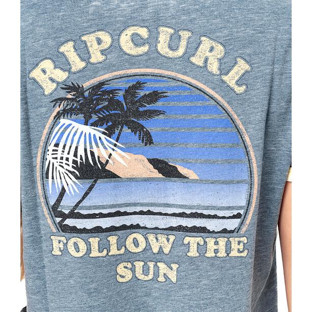 Rip Curl Surf Revival Ringer Kurzarm Shirt Damen blau
