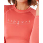 Rip Curl Golden Rays Langarm UV Shirt Damen coral
