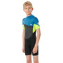 Rip Curl Omega SS Back Zip Suit Boys, neon lime