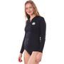 Rip Curl Premium Surf Essentials Langarm UV Shirt Damen black