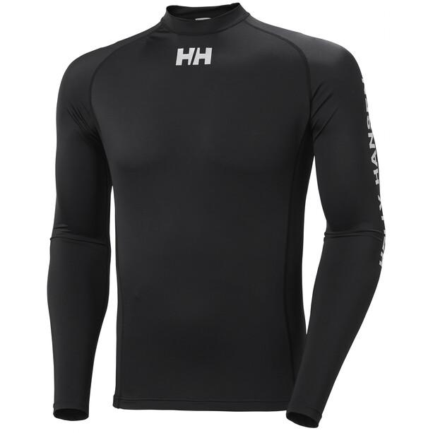 Helly Hansen Waterwear Rashguard Langarmshirt Herren schwarz