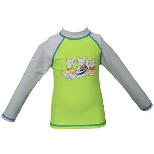 arena Friends LS UV Tee Kids, vihreä/harmaa vihreä/harmaa