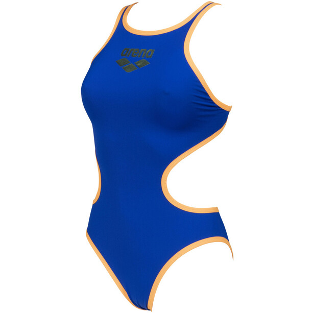 arena One Biglogo One Piece Badeanzug Damen neon blue/orange