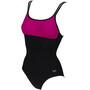 arena Betta U Back One Piece Swimsuit Women, black/rose violet