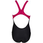 arena Cherry Pro Back One Piece Swimsuit Girls, black/freak rose