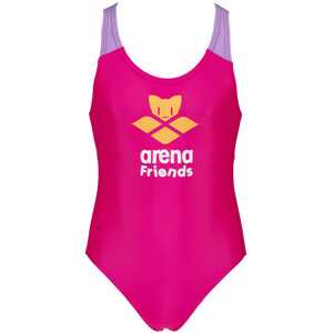 arena Logo Cats One Piece Swimsuit Girls, rose rose