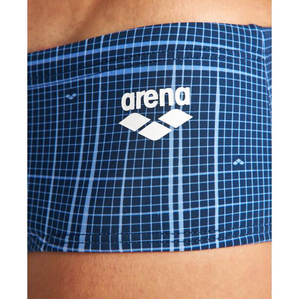 arena Printed Checks Briefs Men, sininen