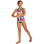 arena Rainbow Colors Pro Back One Piece Badeanzug Mädchen freak rose/martinica