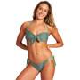 arena Solid Bandeau Bikini Damen oliv