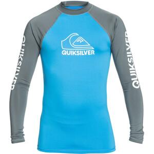 Quiksilver On Tour LS Shirt Boys, blauw/grijs blauw/grijs