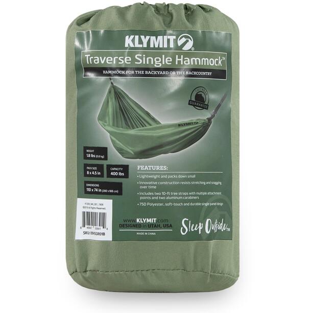 Klymit Traverse Single Hammock, oliivi