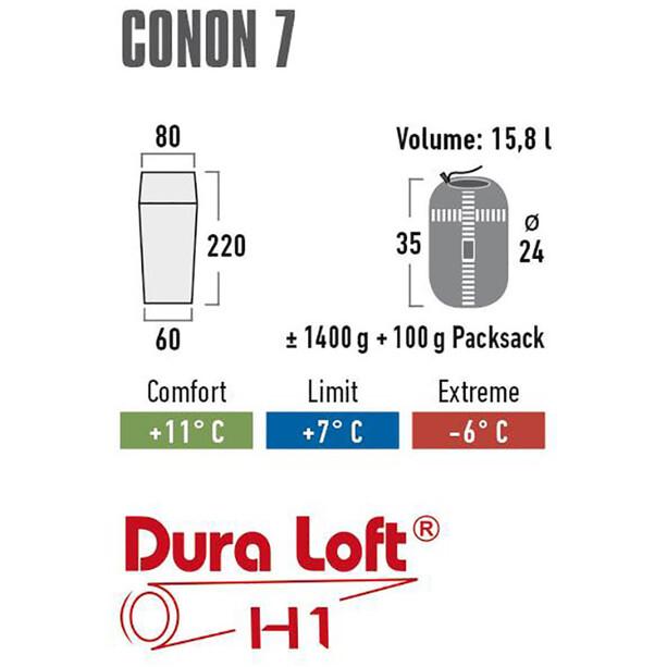 High Peak Conon 7 Sleeping Bag, grey/light grey