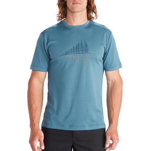 Marmot Hike Leisure Kurzarm T-Shirt Herren cascade blue cascade blue