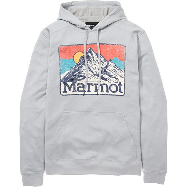 Marmot Mountain Peaks Hoodie Herren grau