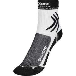 X-Socks Bike Pro Mid-Cut Socken weiß/schwarz weiß/schwarz