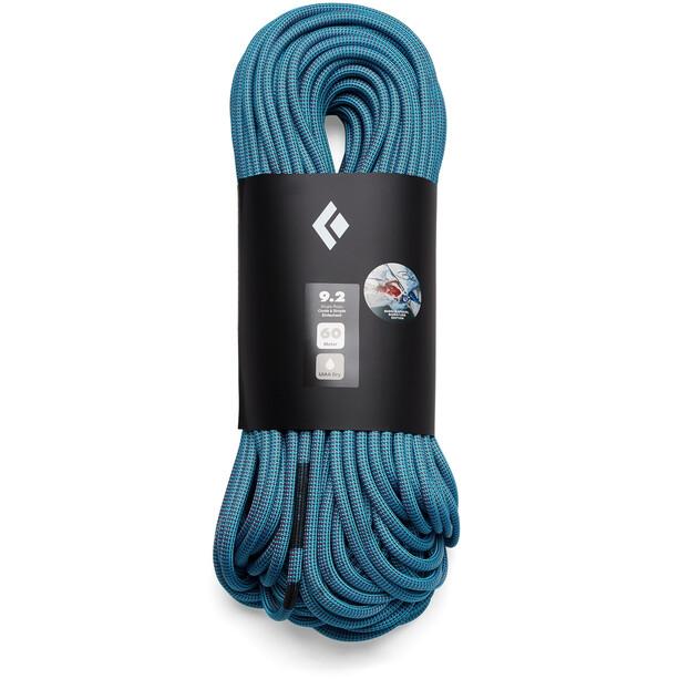 Black Diamond 9.2 Dry Seil 80m Babsi Edition blue-pink