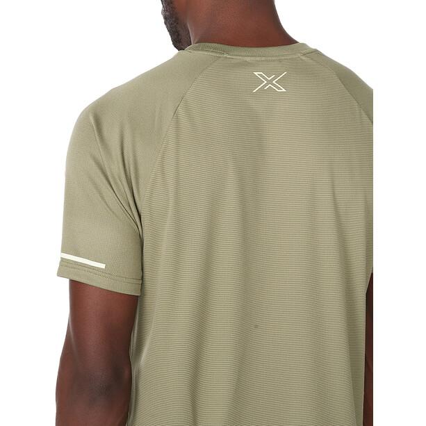 2XU Aero Tee Men alpine/kiwi reflective