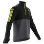 adidas OWN The Run Langarm 1/2 Zip Shirt Herren grey five/black/acid yellow
