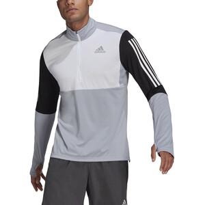 adidas OWN The Run LS 1/2 Zip Shirt Men, harmaa/musta harmaa/musta