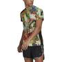 adidas OWN The Run Floral Kurzarm T-Shirt Herren hazy sky/scarlet