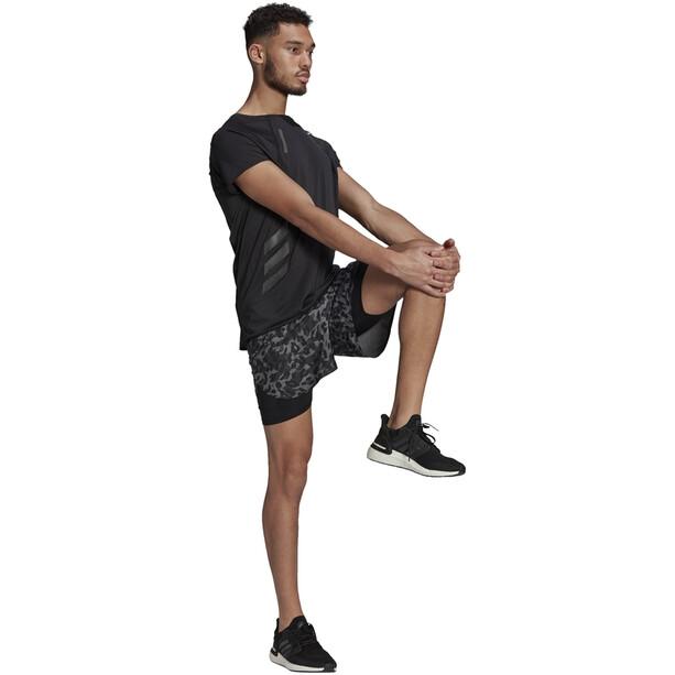 adidas Primeblue 2in1 Shorts Herren grau/schwarz