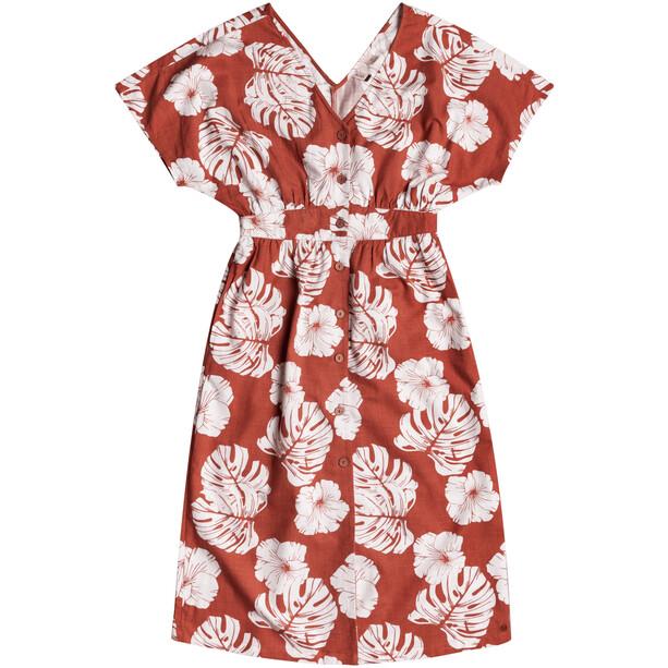 Roxy Sunny Memories Slub Kleid Damen marsala isha